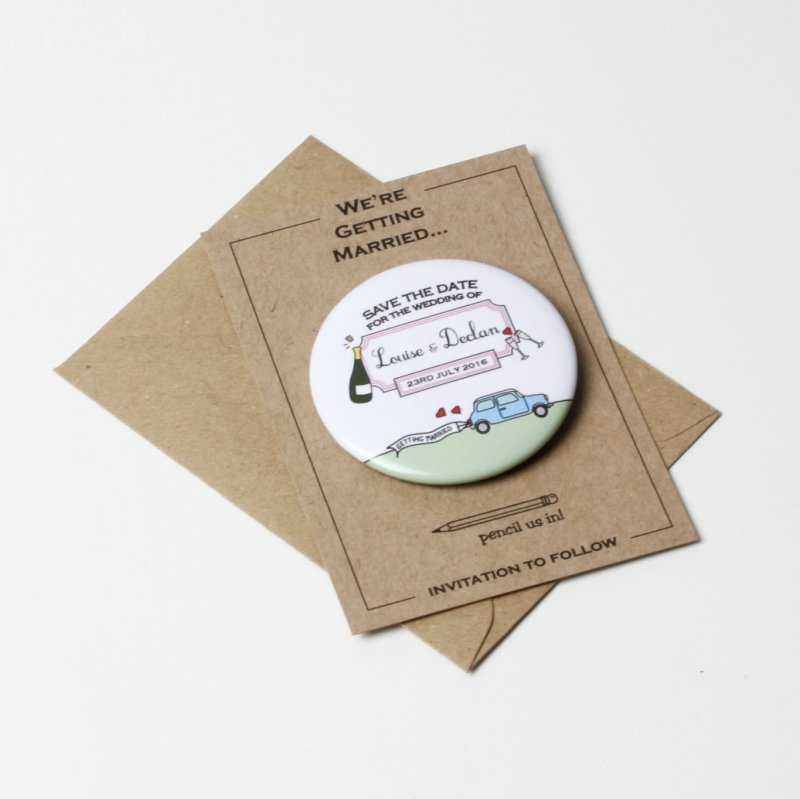 a739947dfd7ac Save the Date Round Magnet