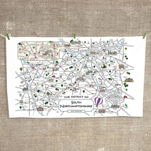 South Northamptonshire Tea Towel